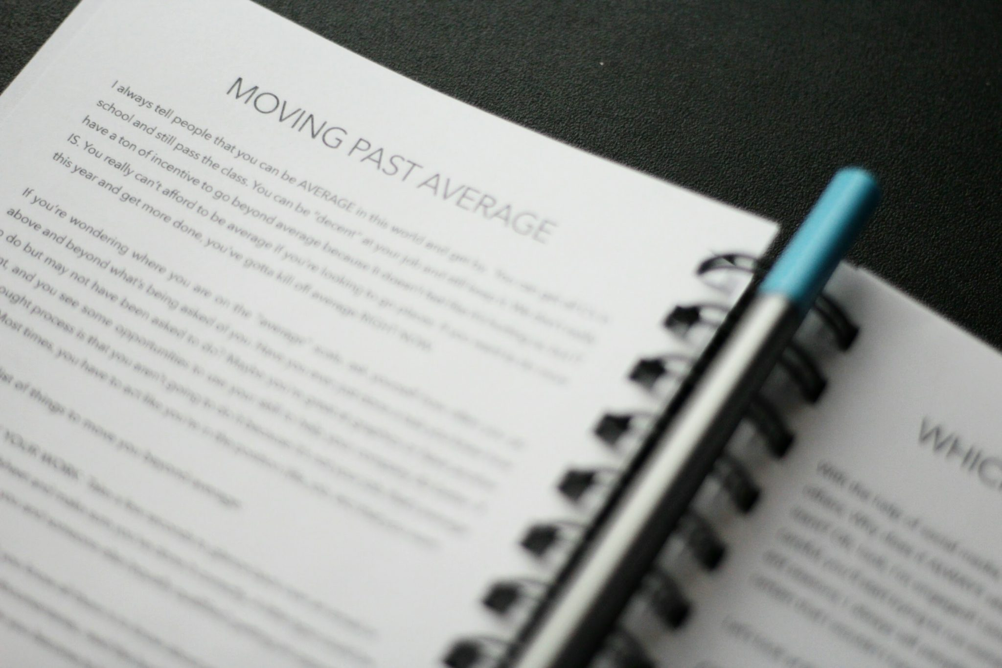 "Moving Past Average – ""This is MY Year"" Journal  Giveaway Closed"